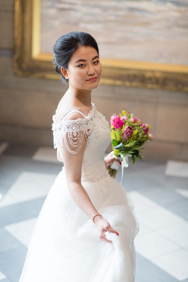 portrait during pre wedding photo session in glasgow, scotland