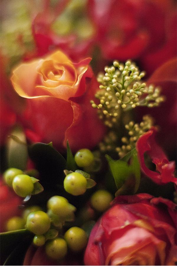 christamas wedding flowers