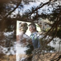 bride and groom during ceremony at tree house the lodge on loch goil scotland
