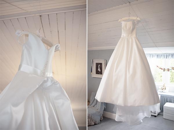 traditional white wedding dress at home bearsden glasgow