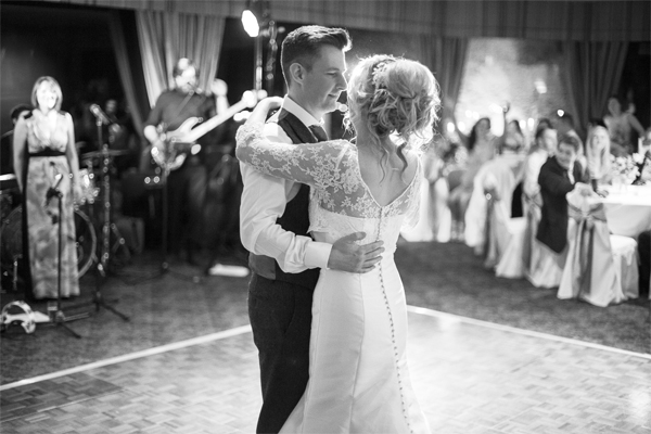 first dance at stonefield castle wedding photos