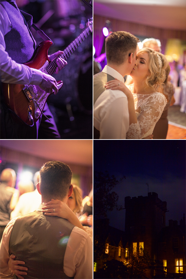 stonefield castle wedding band playing and newlyweds dancing
