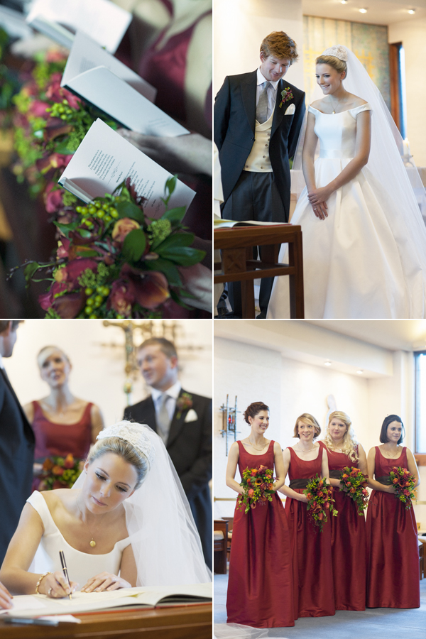 wedding moments during ceremony in a church