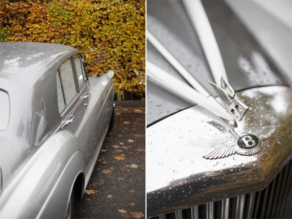 vintage benteley wedding car glasgow