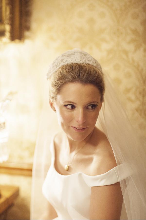 brides wedding portrait