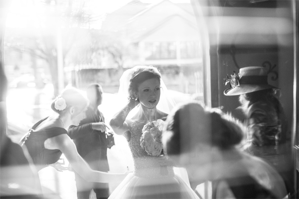 bride just before wedding ceremony