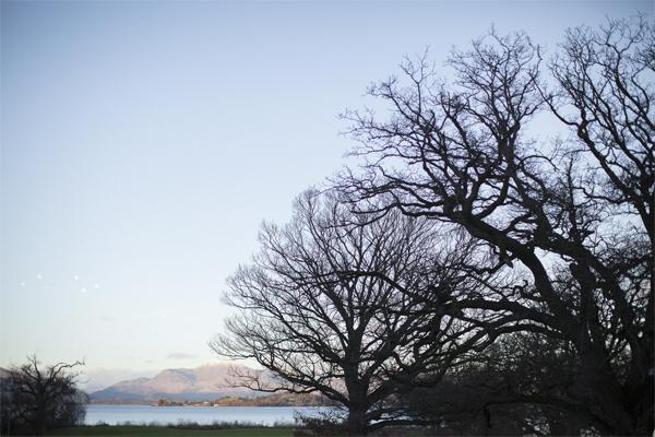 view over ben lomond and loch lomond