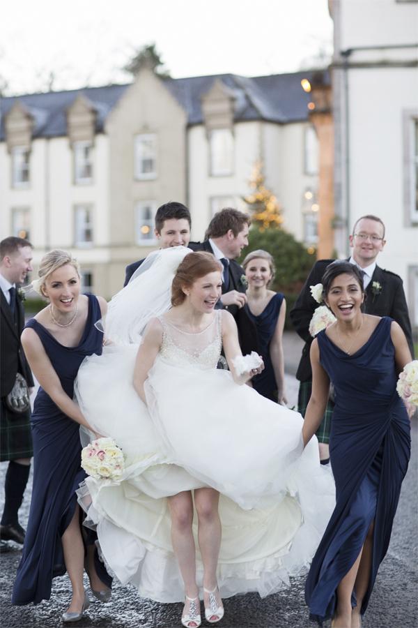 cameron house wedding photos bridal party candid shot