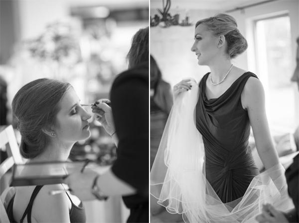 bridesmates during preparations