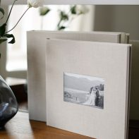 wedding albums from scotland bride and groom kissing cover