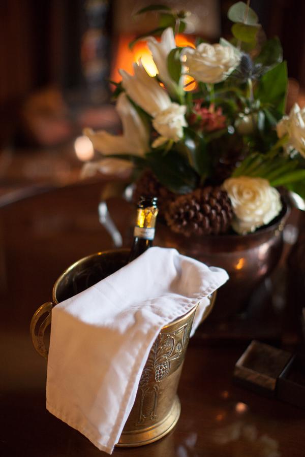 champaign at 5 star hotel wedding venue scotland