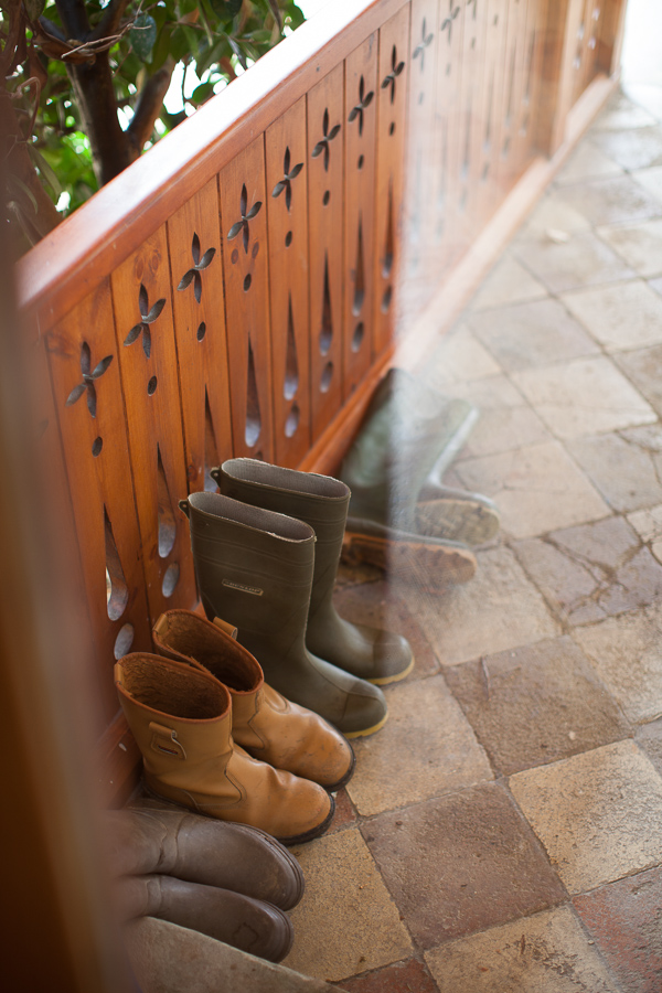 wellies at the the lodge on loch goil scotland