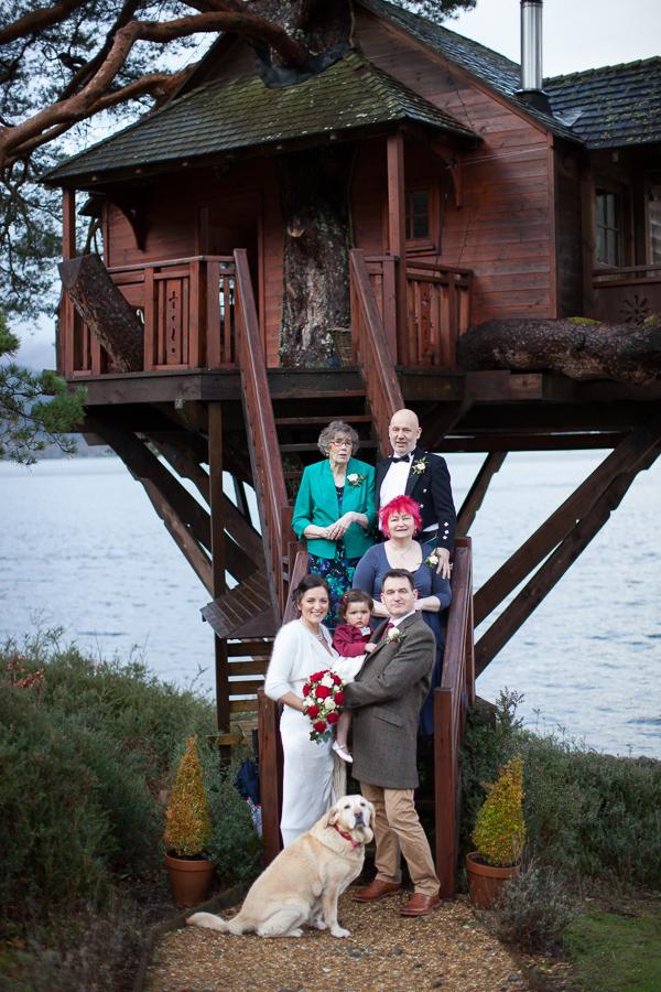 family group shot at wedding