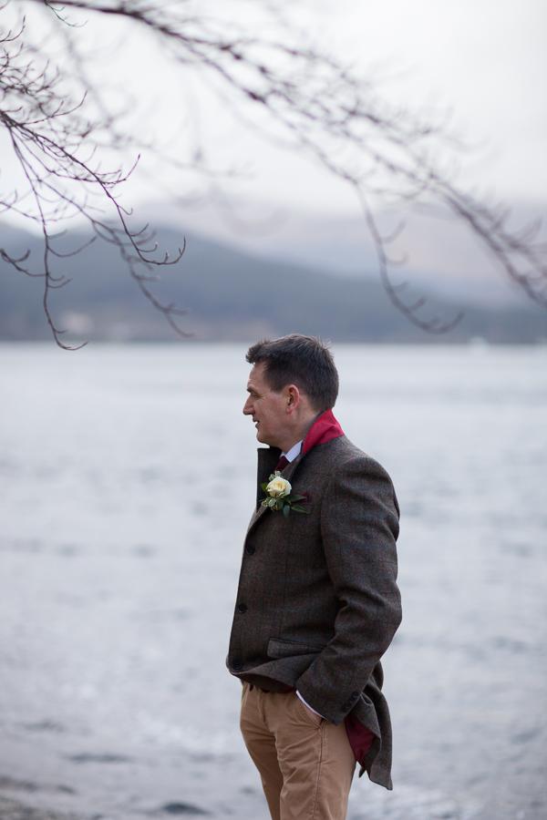 groom next to loch goil