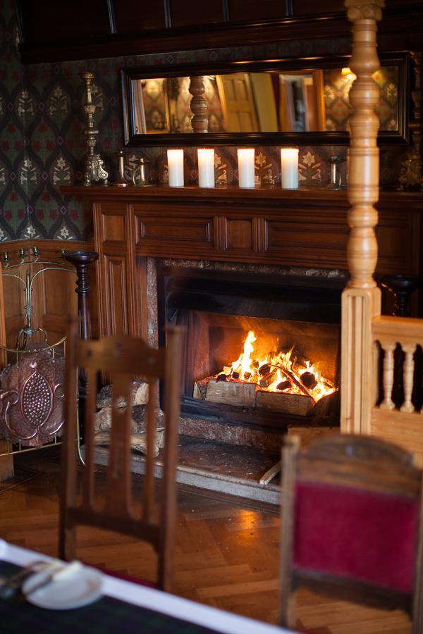 fireplace the lodge on loch goil wedding venue