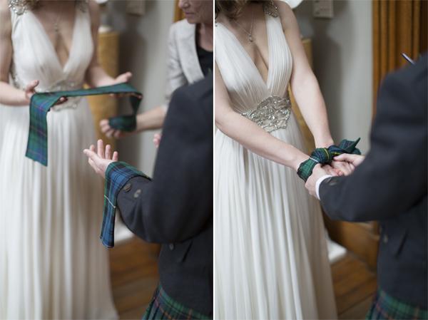 hand fastening ceremony scottish wedding
