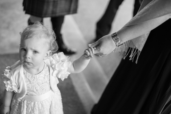 little girl at a wedding in ayrshire