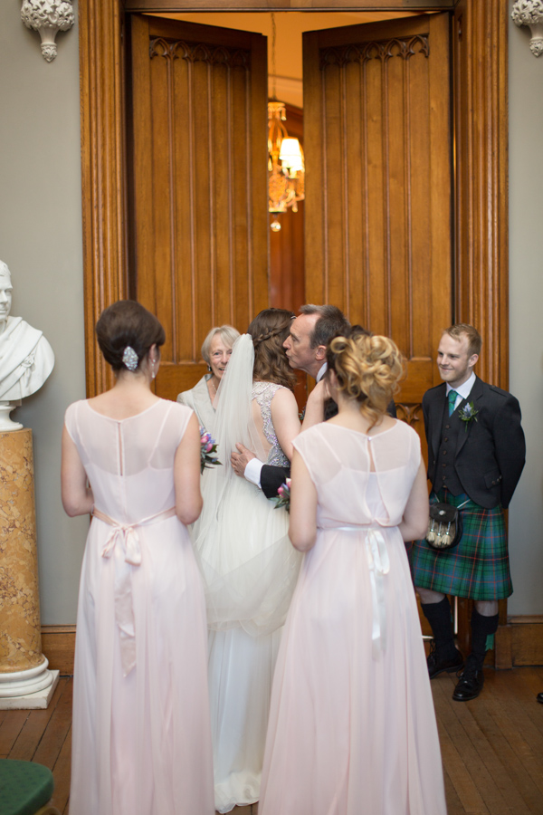 wedding ceremony at Blairquhan Castle