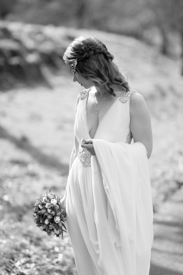 wedding photography packages glasgow bride looking down on the flowers fotogenic of scotland