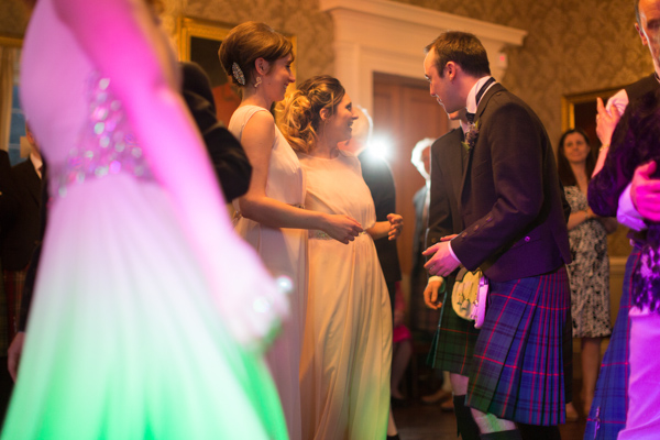 guests dancing at a wedding at Blairquhan Castle