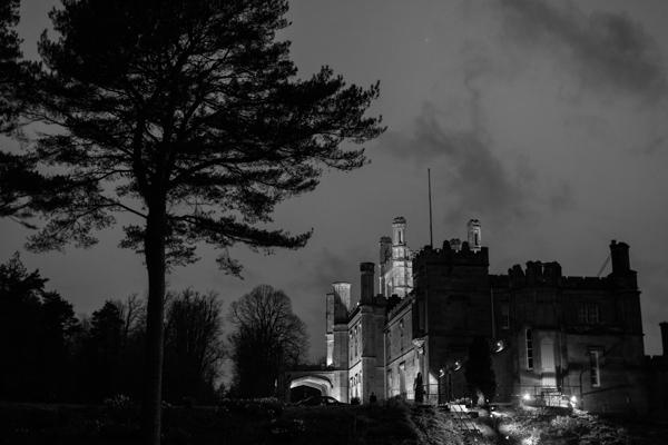 night shot of Blairquhan Castle