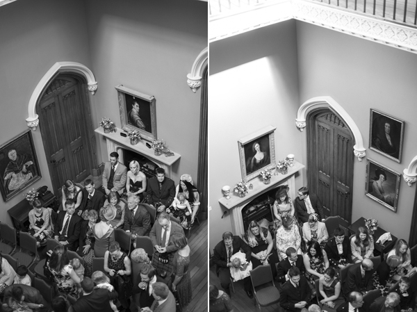 wedding guests seated for ceremoyn at Blairquhan Castle