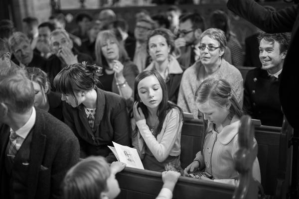 wedding guests in church scotland
