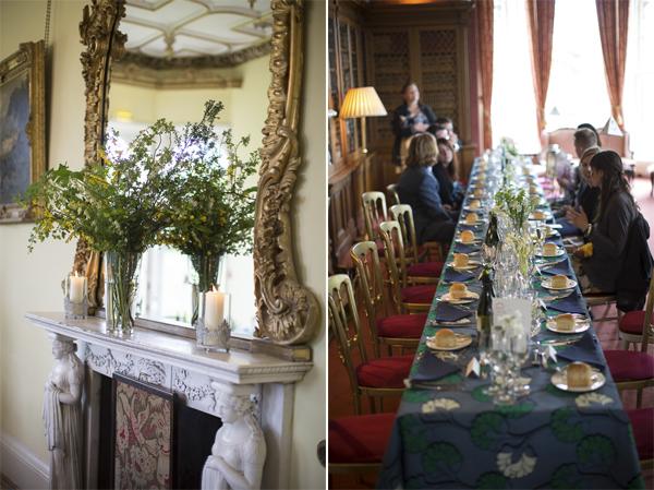 interior of oxenford castle during wedding near edinburgh