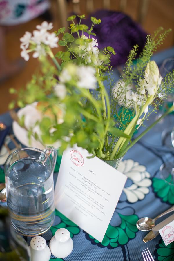 fresh wild flowers as wedding decorations