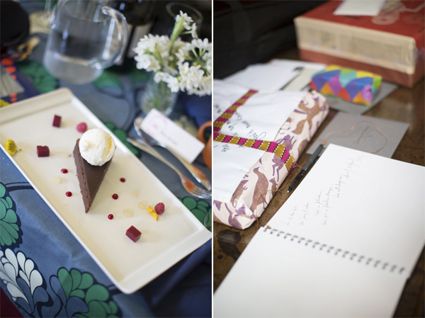 wedding dessert and presents