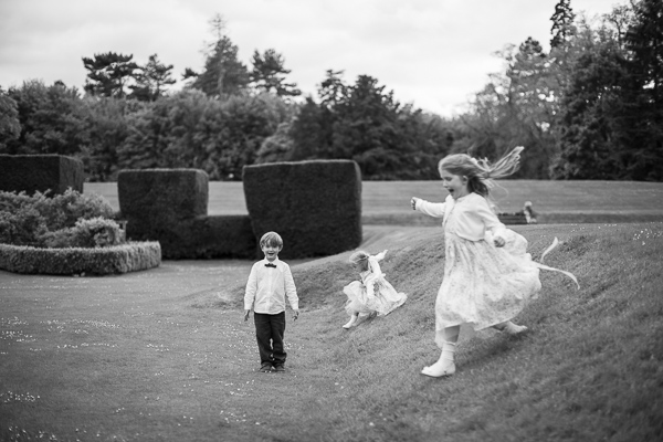 kids playing at wedding venue scotland