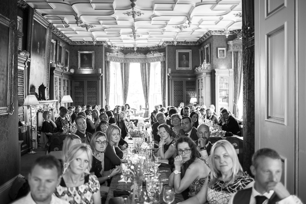wedding guests at main hall oxenford castle