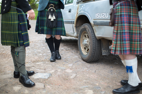 kilts of best man and groomsmen