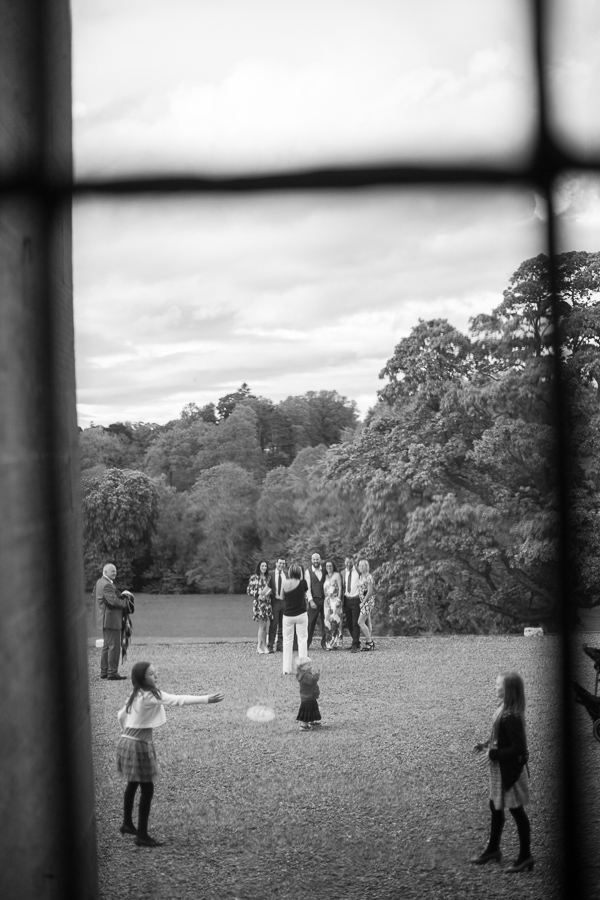 guests and kids playing outside oxenford castle