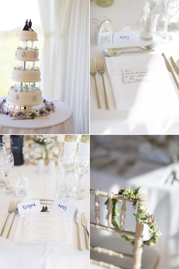 wedding details, table decorations and wedding cake at boturich