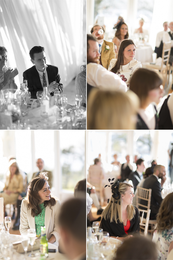 guests listening during speeches collage