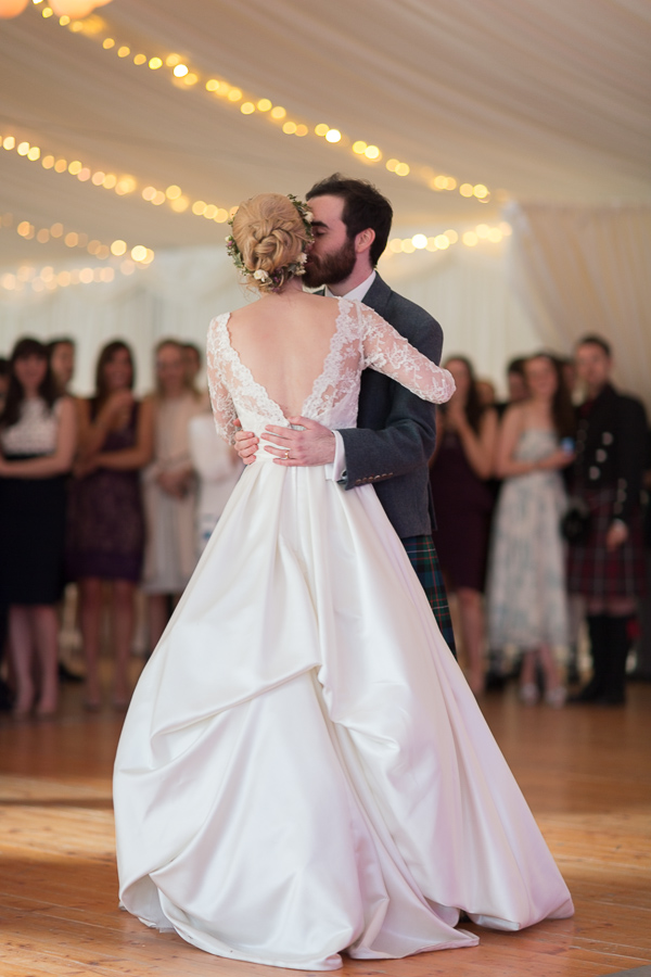 first dance at boturich castle wedding