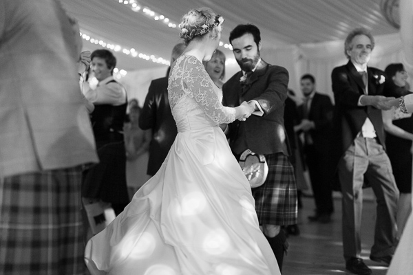 newlyweds dancing hard