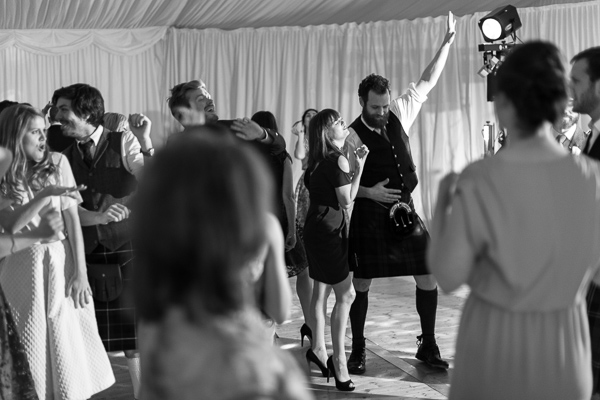 guest dancing during wedding