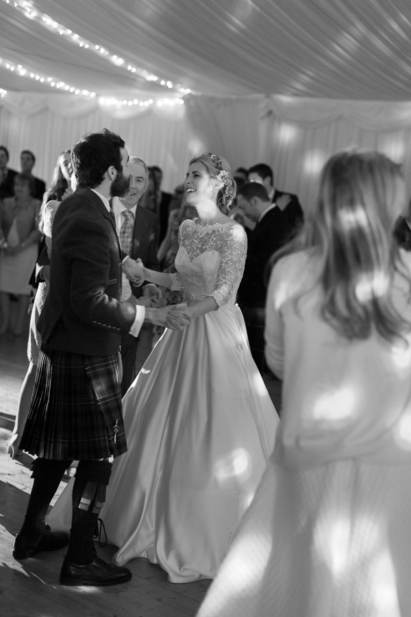dancing during wedding at loch lomond