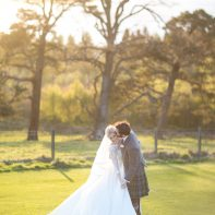married couple practising first dance boturich castle loch lomond scotland