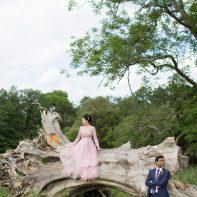 pre wedding photos at luss loch lomond asian couple standing