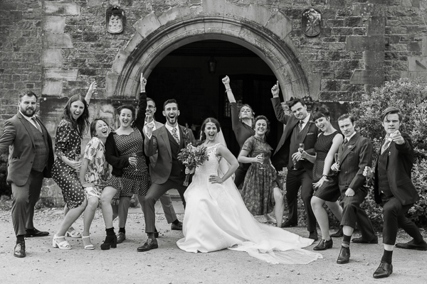 funny bridal party photo by fotogenic of scotland glasgow photographers