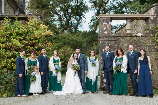 classical bridal party photo by fotogenic of scotland glasgow photographers