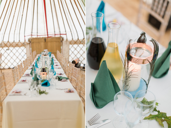 inside weddign tipi tent, tables and details