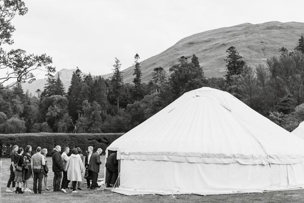 tipi tent at ardkinglas estate during wedding