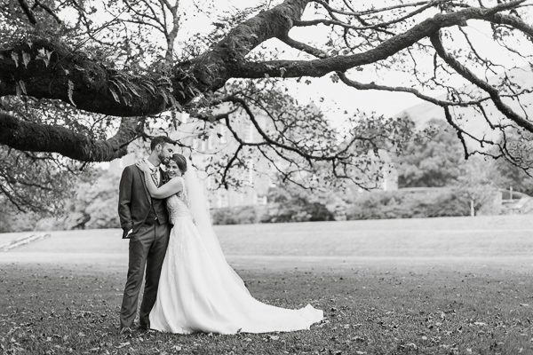 wedding photography glasgow prices married couple embraced