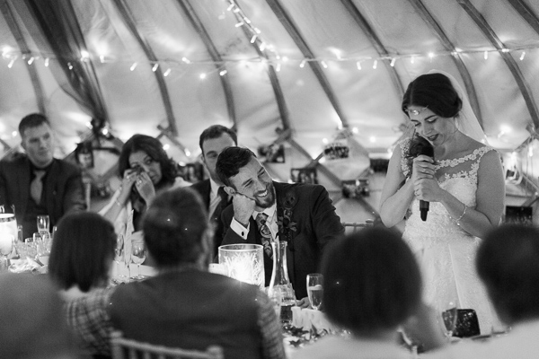 brides speech at ardkinglas estate wedding photographer glasgow