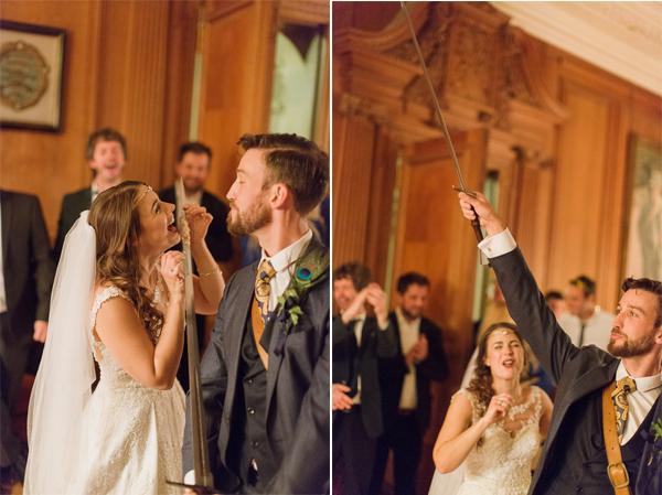 funny photos of cutting wedding cake in scotland