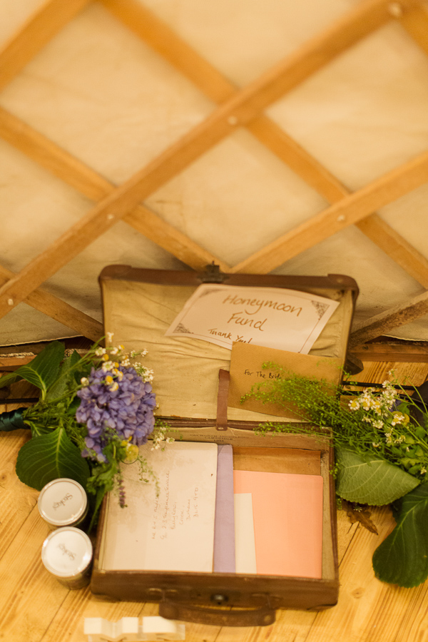 honey moon fund suitcase wedding details DIY